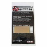 Best Welds 901-932-248-10 10 Hardened Glass Gold Filter Plate44; 2 x 4 in.
