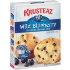 Krusteaz Wild Blueberry Supreme Muffin Mix Boxes 17.1OZ (Pack of 24)