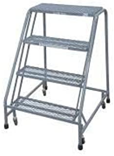 product image for Cotterman 1004N3232A1E10B4C1P6 - Rolling Ladder Steel 40In. H. Gray