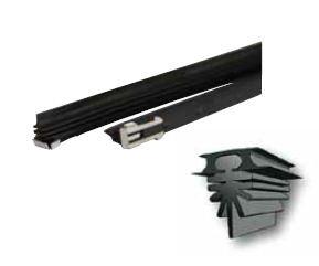 2 pcs Universal limpiador de goma de repuesto para limpiaparabrisas, longitud 710 mm, se