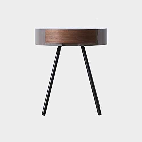 YISUNF LL Northern Europe Bedside Table Round Light Solid Wood net red Simple Modern Bedroom Small Bedside Cabinet