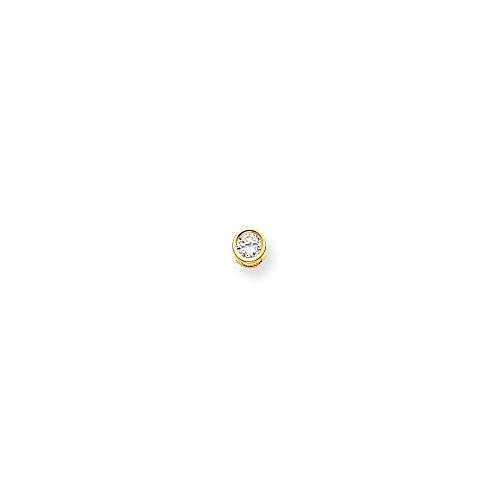 14k 5mm Round Bezel Pendant Mounting, 14 kt Yellow Gold 14k Yellow Gold Mounting