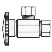 Plumb Pak PP2670PCLF Quarter Angle Valve with 5/8 Coarse Thread Inlet and 7/16 OD Outlet by Plumb - Plumb Outlet Pak
