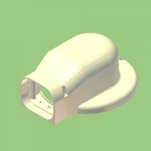 10個セット 配管化粧カバー マンション用出口化粧カバー(先付用) 77タイプ 適用フランジ径153mm以下 ブラック KMDL-75S-B_set