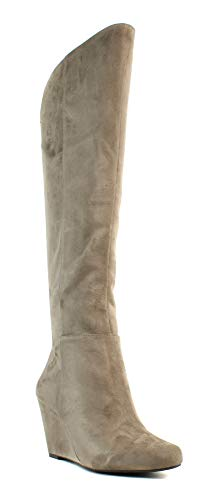 Jessica Simpson Women's Royle Winter Boot, Slater Taupe, 9 M US