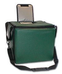 TCB Insulated Bags MB-HWK-Green Food and Beverage Carriers: Hawking Vending Bag with Dispensing Lid, 15.5'' x 15.5'' x 14'', Green by TCB Insulated Bags
