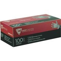 West Chester 2850/S Industrial Grade Powder Free Latex Gloves, 7 mil, Small, White (Box of (Latex Dots)