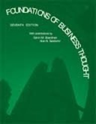 Foundations of Business Thought (7th Edition)