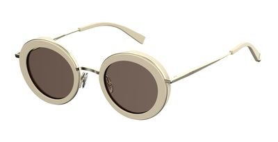 max-mara-metal-oval-sunglasses-46-010a-beige-ir-gray-blue-lens