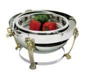 Lion Head Chafer (Eastern Tabletop Lion Head Round Rolltop Chafer, 8 Quart -- 1 each.)