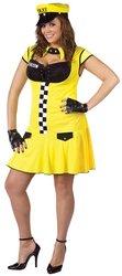 Plus Size Sexy Taxie Cabbie Costume - Womens Plus 16W-20W]()