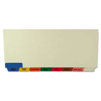 Medical Chart Divider Sets, Bottom Tab, 8 1/2 x 11 3/8, 40 Sets/Box, Sold as 40 Set - (5 Boxes)