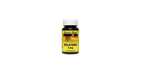 Amazon.com: Natures Blend Melatonin 3 mg 60 Tablets: Health & Personal Care