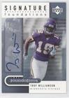 Troy Williamson (Football Card) 2005 Upper Deck NFL Foundations - Signature Foundations #SF-TW