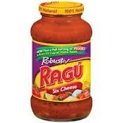 Ragu Organic Sauce - Ragu Robusto Pasta Sauce 24oz Jar (Pack of 4) (Choose Flavor Below) (Six Cheese)