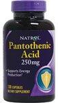 Acide pantothénique 250mg 100