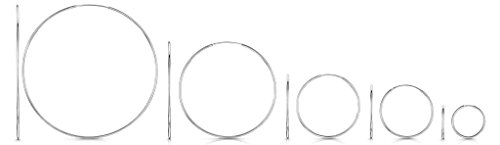 Amberta 925 Sterling Silver Fine Circle Endless Hoops - Polished Round Sleeper Earrings Diameter Size: 20 30 40 60 80 mm (40mm) by Amberta (Image #3)