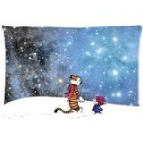 Hertanercase Calvin and Hobbes Custom Zippered Soft Pillow Cases 16x24 (Two sides)