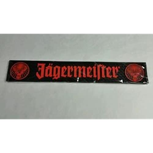 Jagermeister Black U0026 Orange Logo Bar Mat