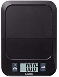 (Salter Folding Platform Compact Portable Digital Kitchen Scale, Black)