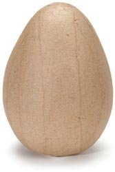 Darice Bulk Buy Core'dinations Paper Mache Egg 4 inch x 2.5 inch (12-Pack)