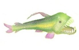 Dragon Fish Glow-in-the-Dark Replica Bottom Feeder 6.5 Inches