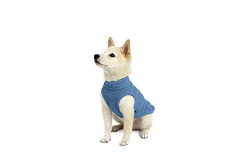 Gooby - Stretch Fleece Vest, Pullover Fleece Vest Jacket Sweater Dogs, Steel Blue, X-Small