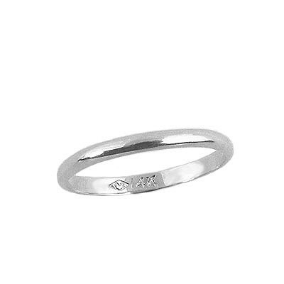 Infant, Baby Jewelry - 14K White Gold First Band Ring (Size 1) (White Gold Baby Jewelry)