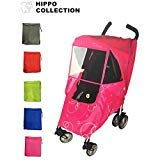 Hippo Collection Universal Stroller Weather Shield with Bubble - Pink