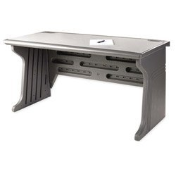 Iceberg ICE92402 Aspira Modular Desk, High-Density Plastic, 60'' Width x 30'' Height x 28'' Depth, Charcoal by Iceberg