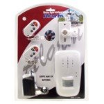115dB Security Alarm Siren with IR Motion Detector and Dual Remote Keychains