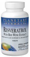 Resveratrol with Red Wine Extract Planetary Herbals 30 Tabs Discount
