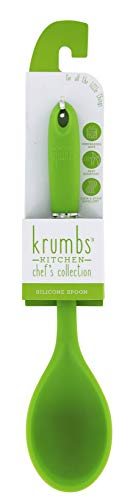 Krumbs Kitchen Chef's Collection Silicone Spoon, Green