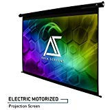 Akia Screens 104'' Motorized Electric Projector Projection Screen, 4:3, 8K 4K Ultra HD 3D Ready Wall/Ceiling Mounted, 12V Trigger, Remote, Manufacturer Warranty with Chat Service, AK-MOTORIZE104V by AKIA SCREENS