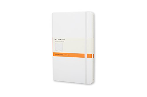 Moleskine Classic Notebook, Hard Cover, Pocket (3.5 x 5.5) Ruled/Lined, White