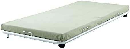 UNI FAM Twin White Metal Bed Frame Twin Size Bed