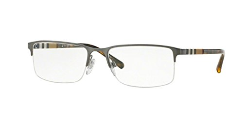 Burberry Men's BE1282 Eyeglasses Brushed Gunmetal 55mm
