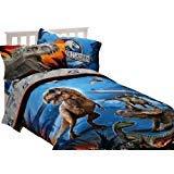Universal Studios Jurassic World 72'' x 86'' Microfiber Comforter Dinosaur Attraction Twin/Full by Universal