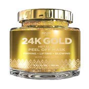 24K Gold Metallic Firming Peel Off Mask By Azure - Removes Blackheads, Dirt & Oils | Firms & Moisturizes | Reduces Wrinkles, Fine Lines & Acne Scar | -150ml