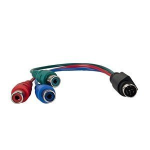 7-Pin to HDTV / 3 RCA RGB (Red, Blue, & Green) Component TV HDTV - Video Adapter Cable (Component Video S-video Adapter)