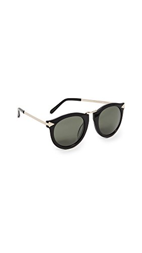 Karen Walker Women's Alternative Fit Harvest Sunglasses, Black/G15 Mono, One ()