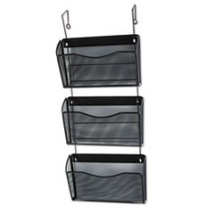 (3 Pack Value Bundle) ROL21961 Three-Pack Wire Mesh Wall Files, Letter, Three Pockets, Black