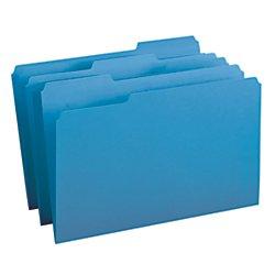 Filing System Legal (Smead File Folder, 1/3-Cut Tab, Legal Size, Blue, 100 per Box (17043))