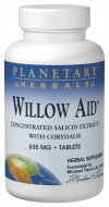 Planetary Herbals Willow Aid Tablets, 60 Count ()