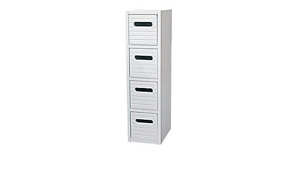 Mueble blanco de madera de pie, cajonera delgada para baño, almacenamiento en cuarto, unidad de cabecera: Amazon.es: Bricolaje y herramientas