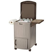 Suncast Patio Cooler, 77 Quarts (Left Theater Cabinet)