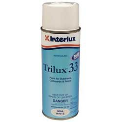 Trilux 33 INTERLUX Antifouling Slime Reducing Outboard Outdrive Lower Unit 16oz Aerosol Spray Paint (White)