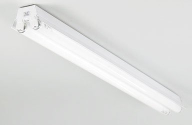 Lithonia Lighting 1233 SHOPLIGHT Fluorescent Worklight, White (Fixture Light Tube)