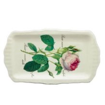 (Roy Kirkham Redoute Rose Sandwich Tray 30cm by 15cm)