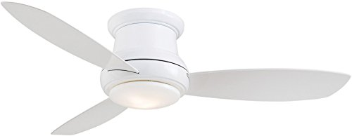 Global Electric 36-inch DC 12V Non-Brush Ceiling Fan for RV, Brushed Nickel with Remote Control, White Blades